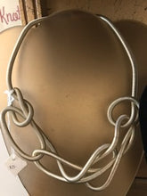 Load image into Gallery viewer, Silver Knotted Flexible Necklace
