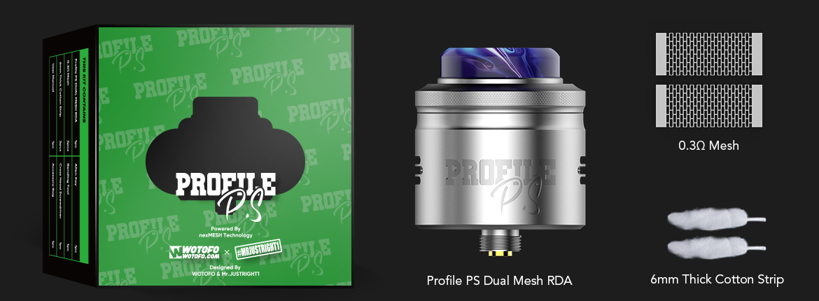 wotofo profile ps dual mesh rda package standard