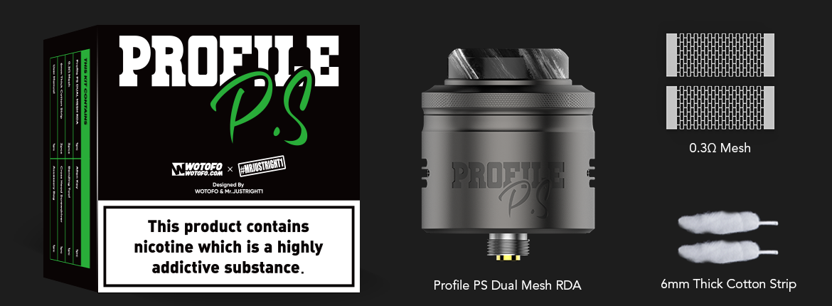 wotofo profile ps dual mesh rda package tpd
