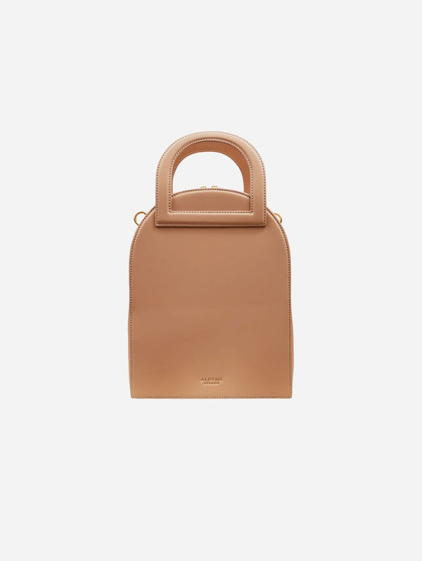 Alkeme Atelier EARTH Vegan Leather Arch Satchel | Beige Nude