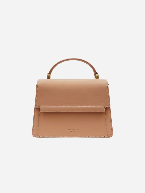 Alkeme Atelier FIRE Vegan Leather Flap Crossbody Bag | Beige Nude
