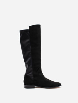 Allkind Grace Two Tone Vegan Long Flat Boots | Black