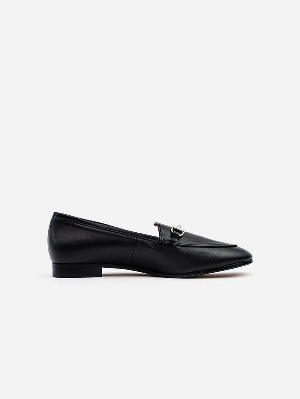 Allkind Jessica Vegan Leather Snaffle Loafer | Black