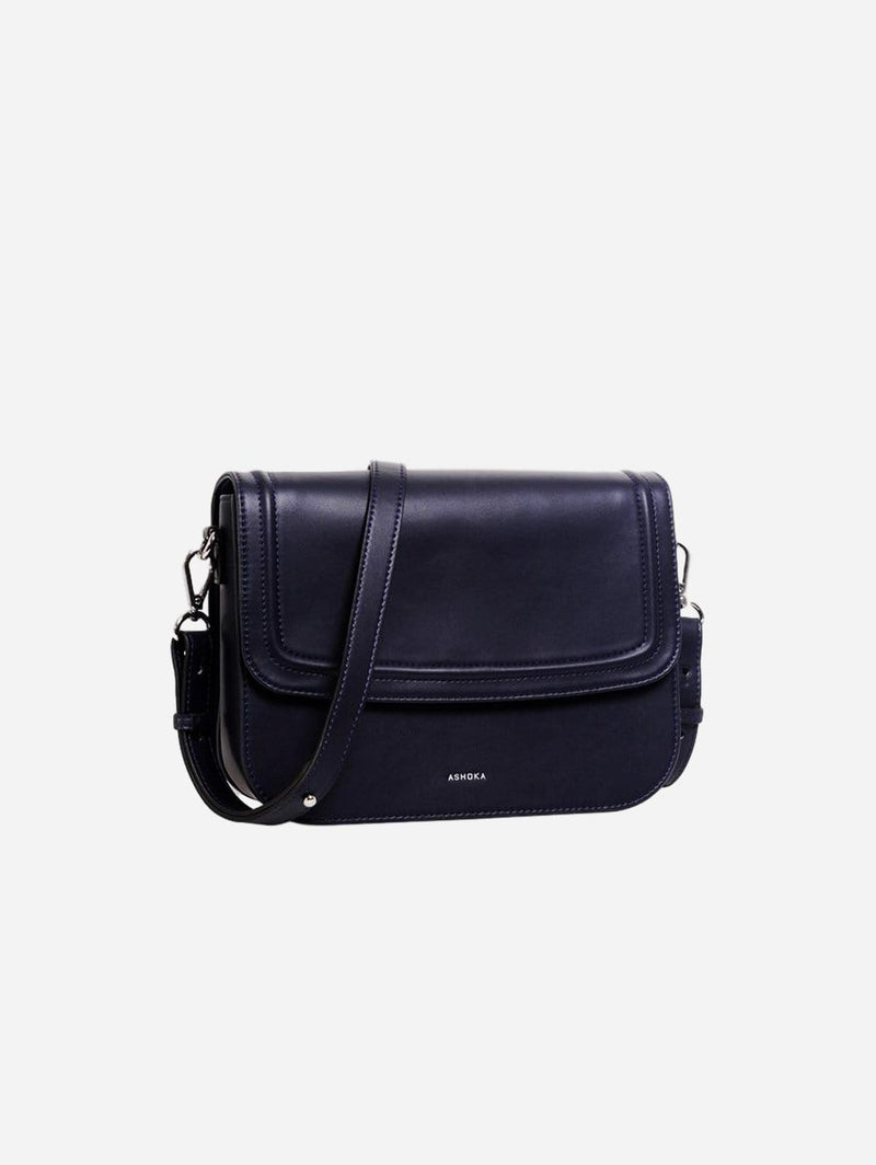 ASHOKA Paris Brigitte Couture Vegan Leather Handbag | Navy