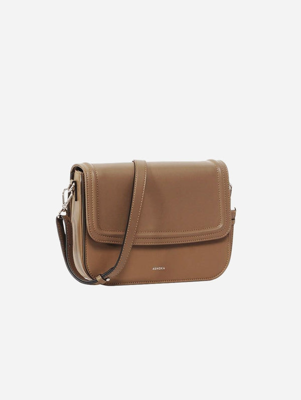 ASHOKA Paris Brigitte Couture Vegan Leather Handbag | Taupe