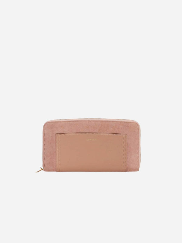 ASHOKA Paris Companion Oxymore AppleSkin Vegan Leather & Microsuede Wallet | Pink Nude