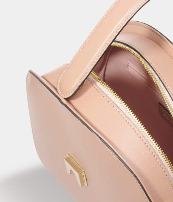 ASHOKA Paris Eclipse Half Moon AppleSkin Vegan Leather Bag | Pink Nude