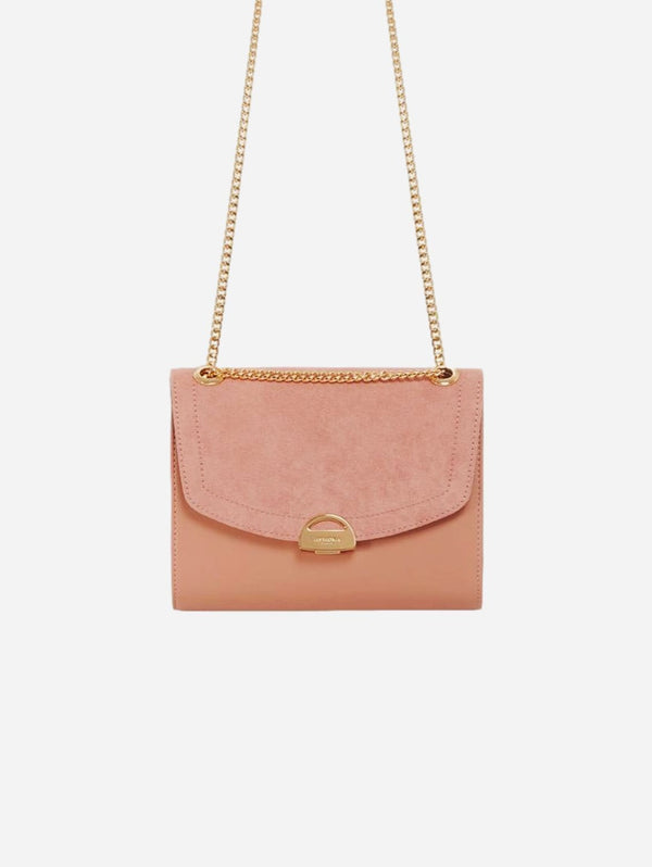 ASHOKA Paris Mini Paname Oxymore Apple Skin Leather & Microsuede Crossbody | Pink Nude