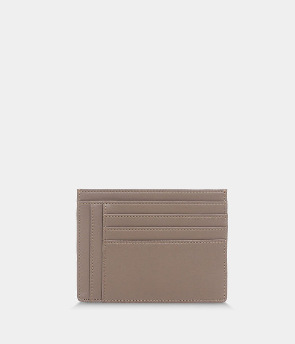 ASHOKA Paris Zipped Vegan Eco-Nappa Leather Card Holder | Taupe