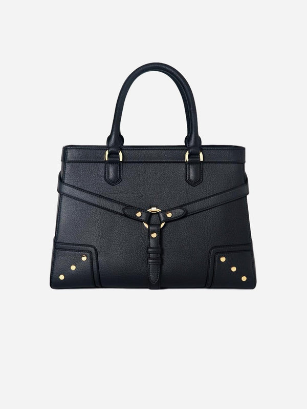 Ava Carrington Stockholm Vegan Leather Satchel | Black