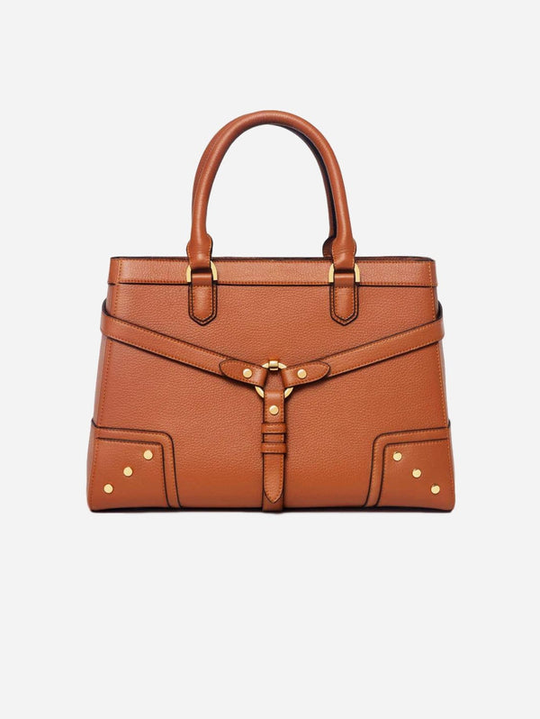 Ava Carrington Stockholm Vegan Leather Satchel | Camel