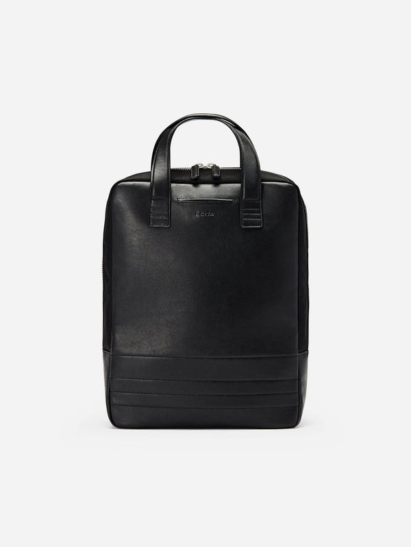 BOITA Vegan Leather Backpack/Briefcase | Black