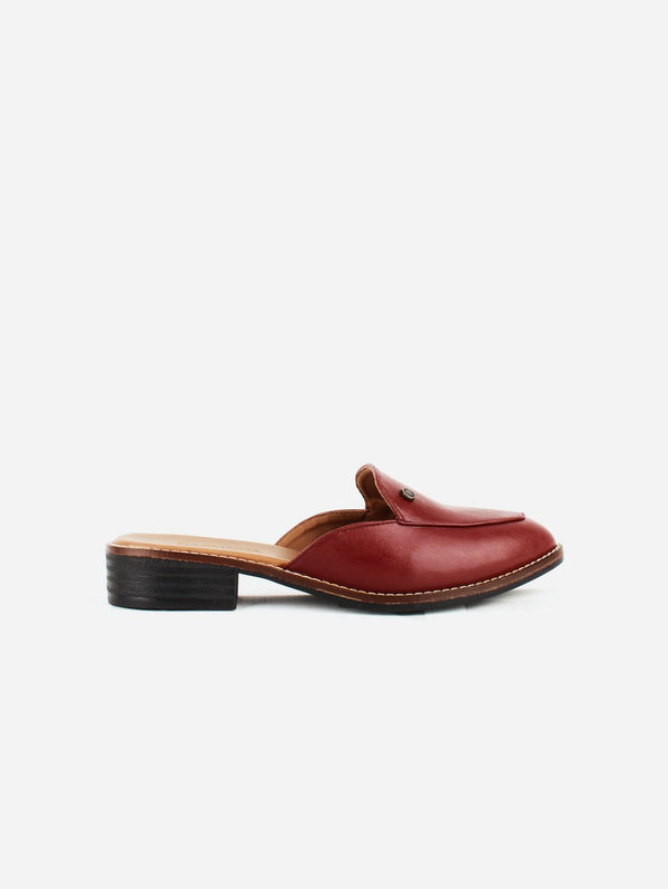 Carmona Collection Aurora Vegan Cactus Leather Mule | Red