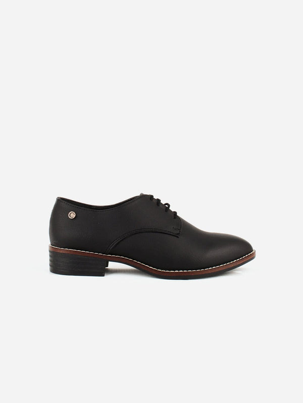 Carmona Collection Esther Vegan Cactus Leather Derby Shoe | Black