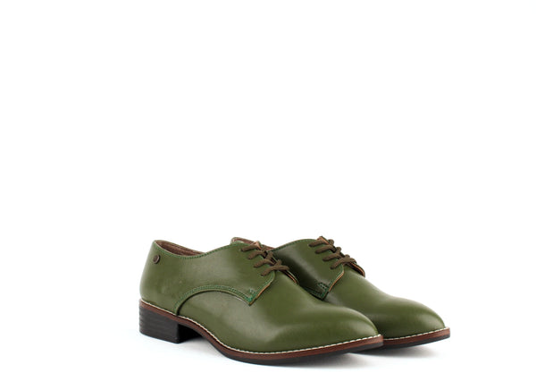 Carmona Collection Esther Vegan Cactus Leather Derby Shoe | Green