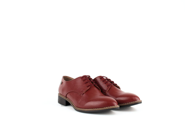 Carmona Collection Esther Vegan Cactus Leather Derby Shoe | Red