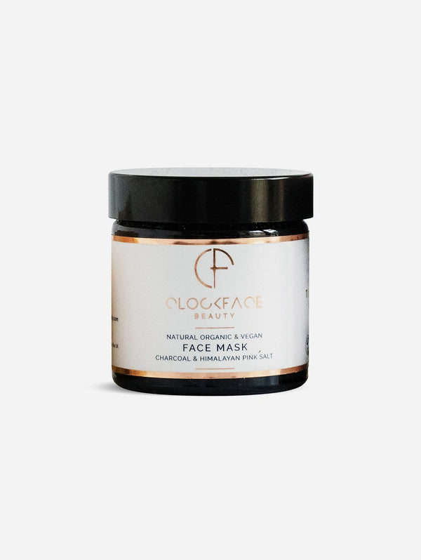 Clockface Beauty Face Mask - Charcoal and Himalayan Pink Salt 60ml
