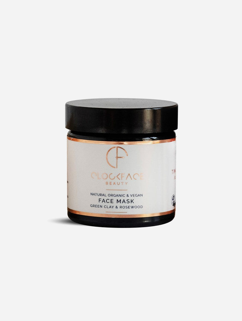 Clockface Beauty Face Mask - Green Clay and Rosewood 60ml
