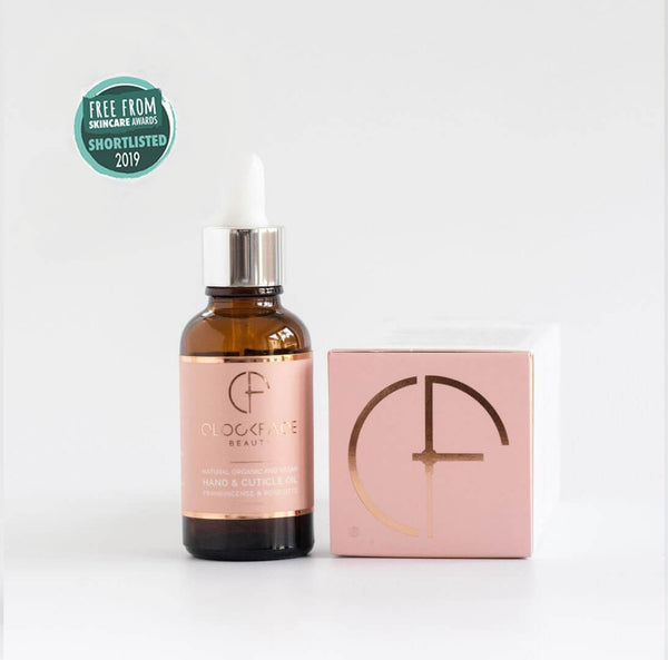 Clockface Beauty Hand and Cuticle Oil - Frankincense and Rose Otto - 30ml