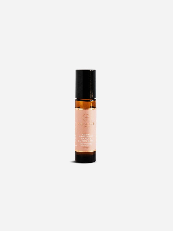 Clockface Beauty Hand and Cuticle Oil Roll-on - Frankincense and Rose Otto - 10ml