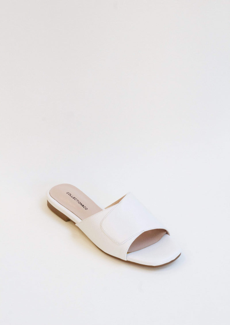 Collection and Co Elia Vegan Leather Cross Over Sandal | White