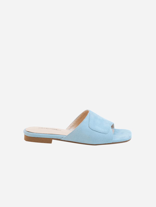 Collection and Co Elia Vegan Suede Cross Over Sandal | Blue