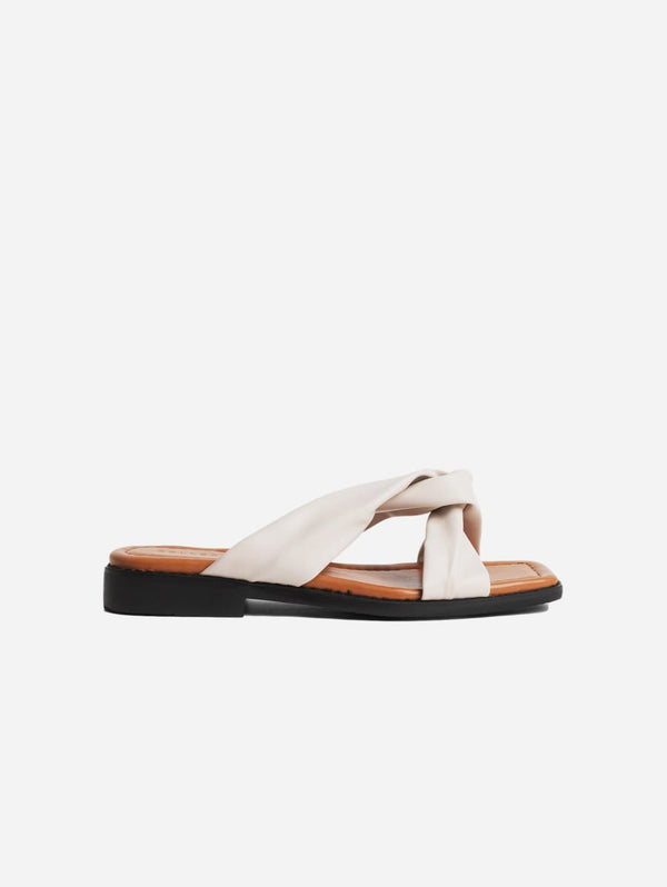 Collection and Co Filia Up-Cycled Vegan Leather Slip-On Sandal | Off-White