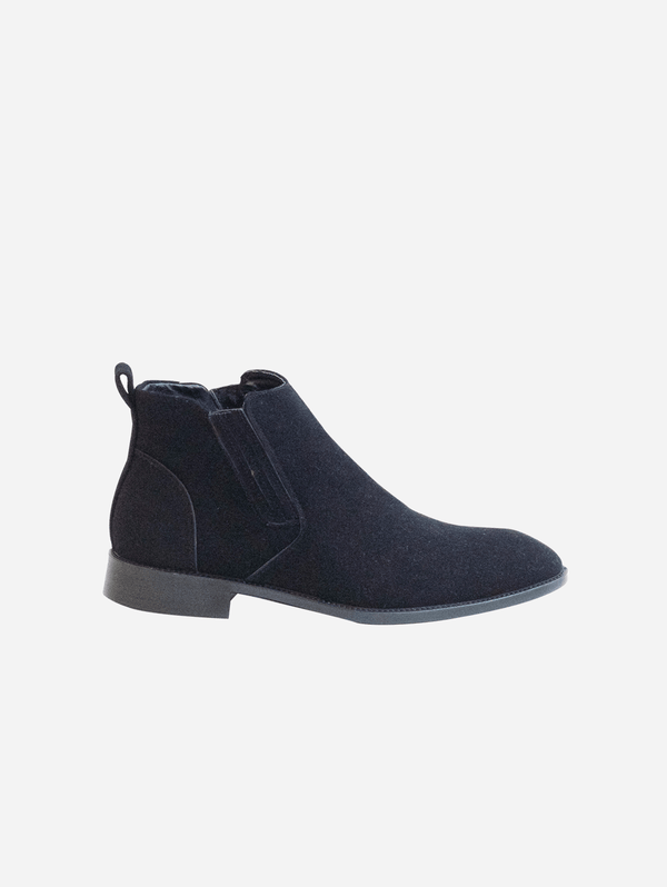 Collection and Co Lexus Unisex Vegan Suede Chelsea Boots | Black