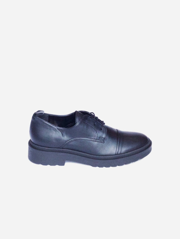 Collection and Co Matteo Up-Cycled Vegan Leather Brogue | Black