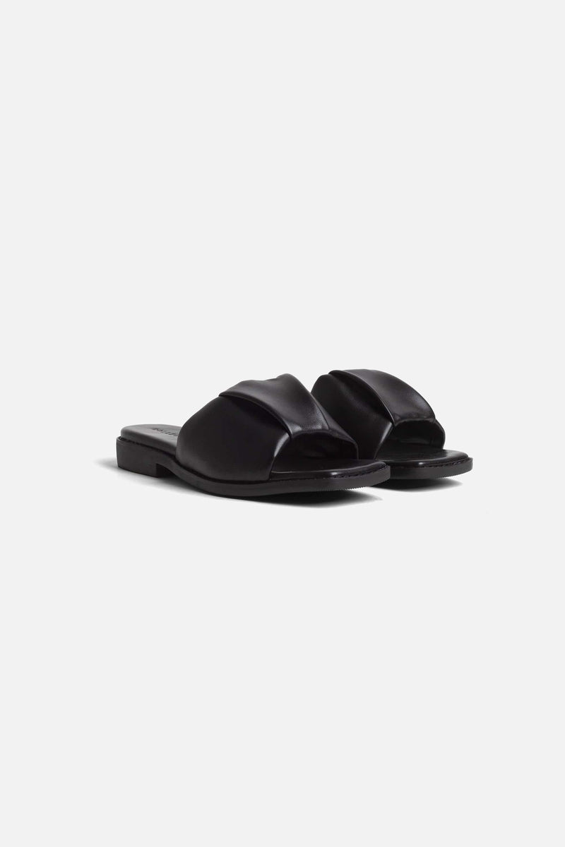 Collection and Co NINA Ruched Sandal, Black