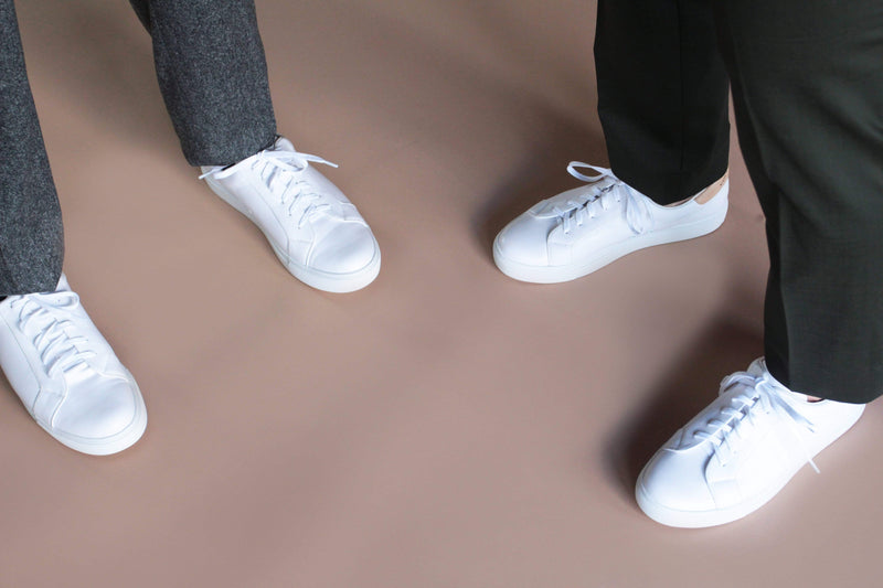 Collection and Co Trexi Unisex Vegan Leather Sneaker | White