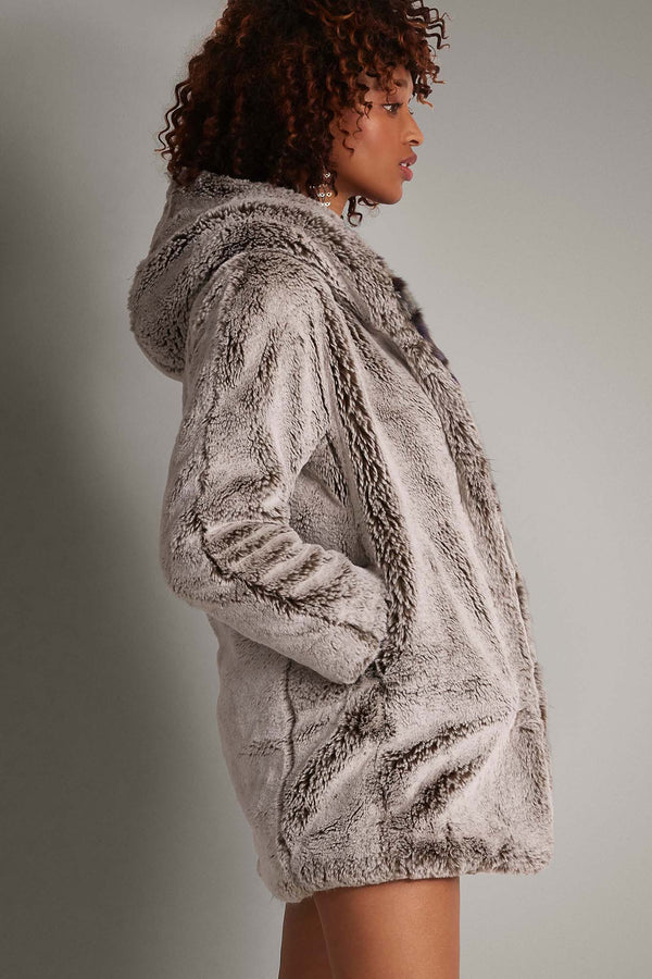 CULTHREAD Chepstow Luxury Faux Fur Vegan Coat | Damazon Trim