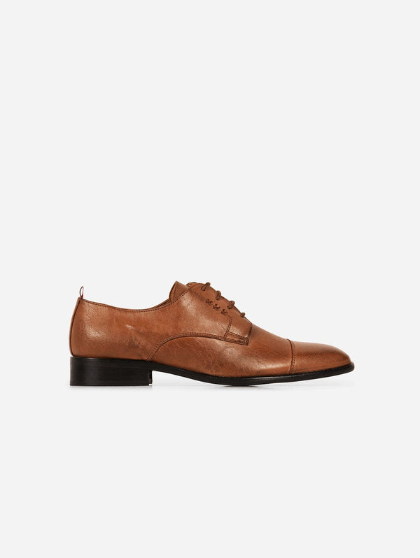 Gentleberg Albert Vegan Leather Cap Toe Derby | Cognac Tan