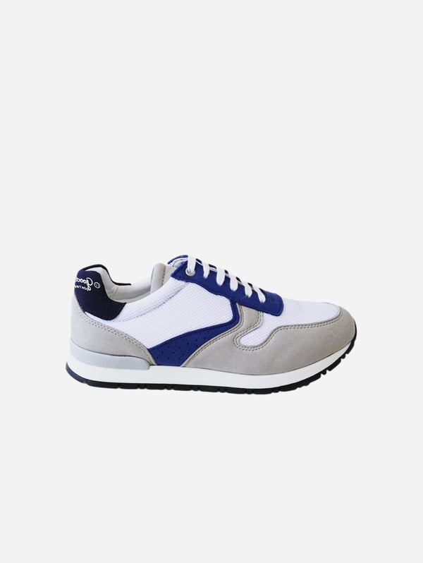Good Guys Don't Wear Leather Felix Vegan Suede Trainers | Navy, White & Grey