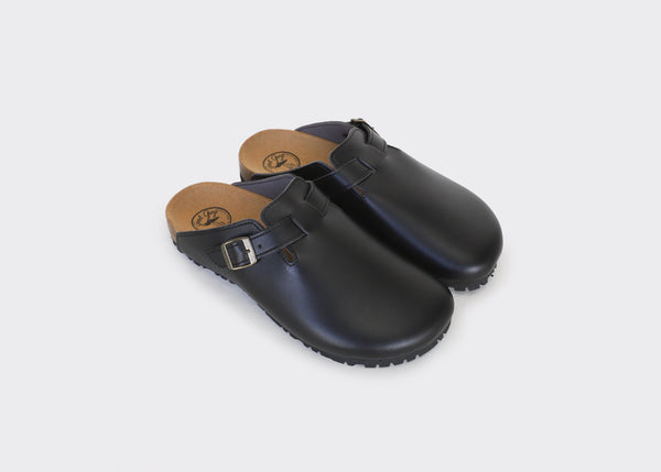 Good Guys Don't Wear Leather Gena Vegan Leather Slide-on Sandals | Black