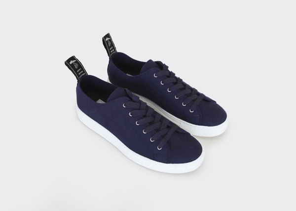 Good Guys Don't Wear Leather Samo Vegan Suede Trainer | Navy Blue