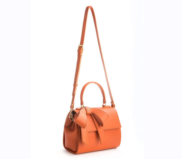 GUNAS New York Cottontail Vegan Leather Handbag | Orange Orange