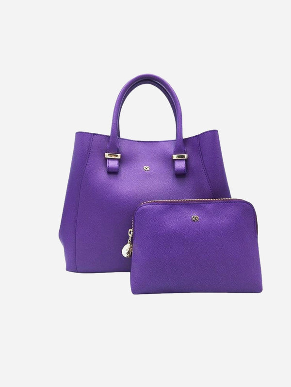 GUNAS New York Jane Vegan Leather Satchel | Purple Purple