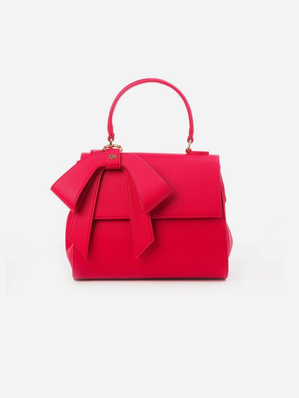 GUNAS New York Cottontail Vegan Leather Handbag | Raspberry Raspberry