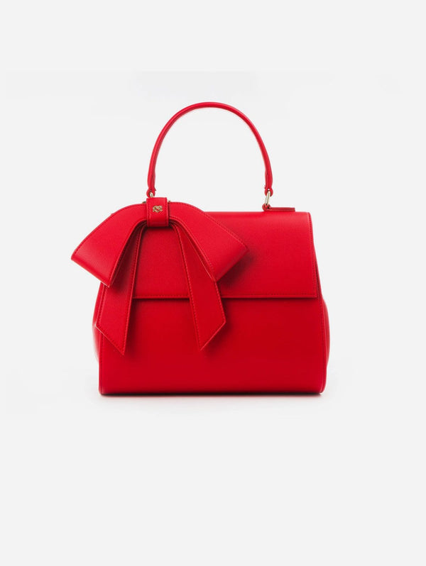 GUNAS New York Cottontail Vegan Leather Handbag | Red Red