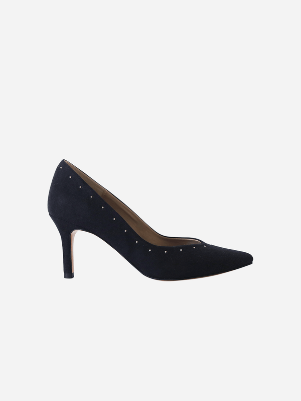 GURU mtp Panther Studded Vegan Suede Pump | Black