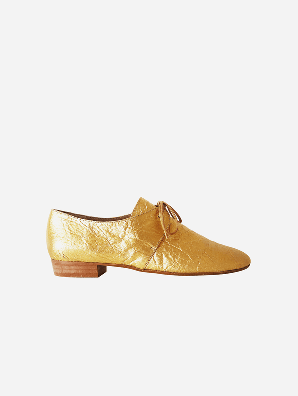 GURU mtp Tapir Vegan Piñatex Leather Flats | Gold