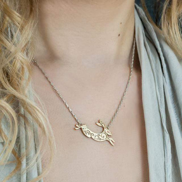 JULIA THOMPSON JEWELLERY Fairtrade Yellow Gold Hare Necklace | 9ct