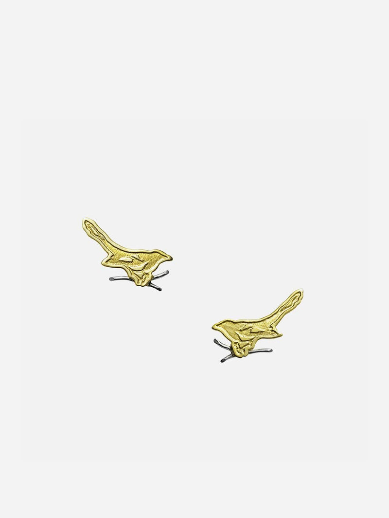 JULIA THOMPSON JEWELLERY Fairtrade Yellow Gold Magpie Stud Earrings | 18ct