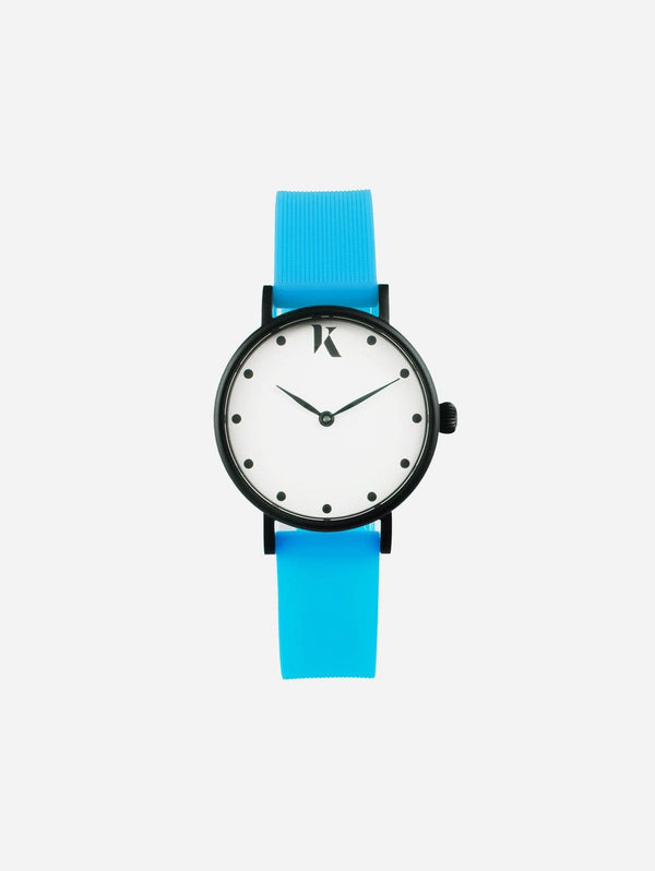 Ksana Neon Blue Vegan Strap Watch | 30mm 30mm Face - Small