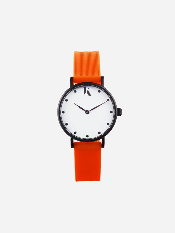 Ksana Neon Orange Vegan Strap Watch | 30mm 30mm Face - Small