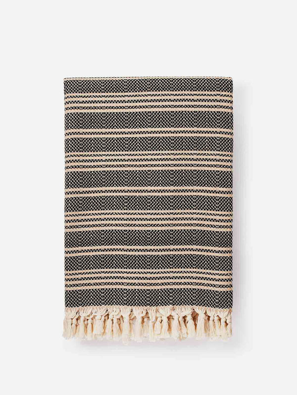 Lüks Linen Hilmi Artisan Cotton Throw | Multiple Colours