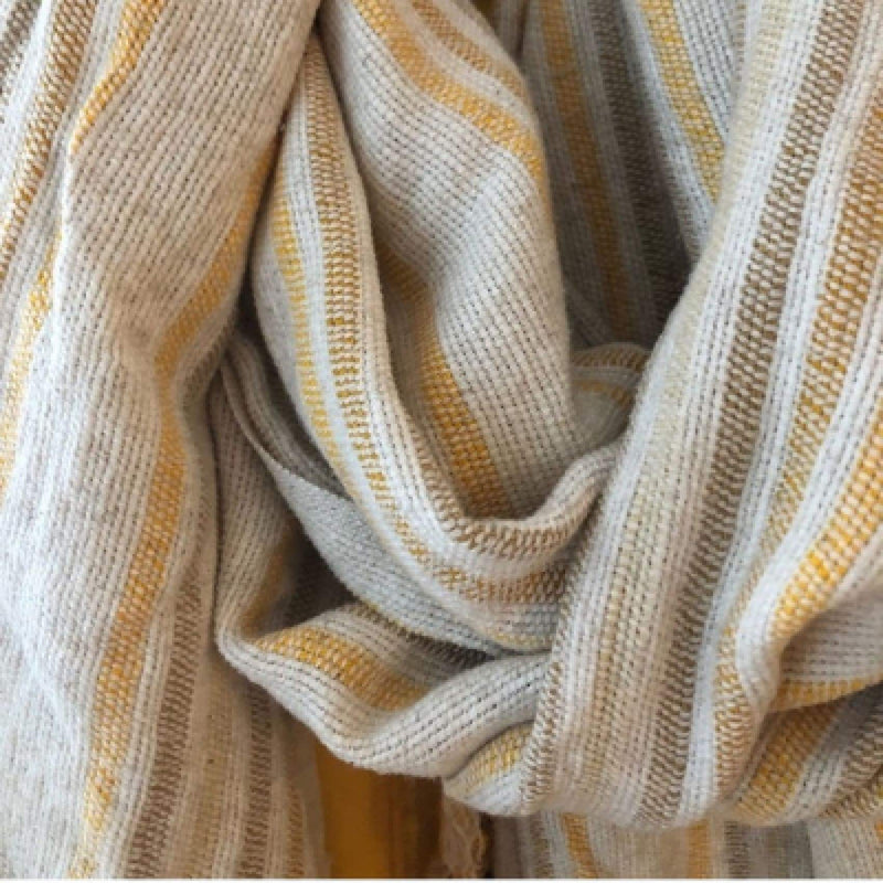Lüks Linen Sibel Cotton & Linen Peshtemal | Hessian and Mustard