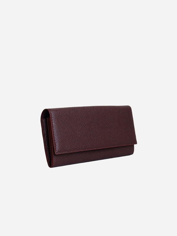 LUXTRA Esther AppleSkin™ Vegan Leather Continental Wallet | Burgundy