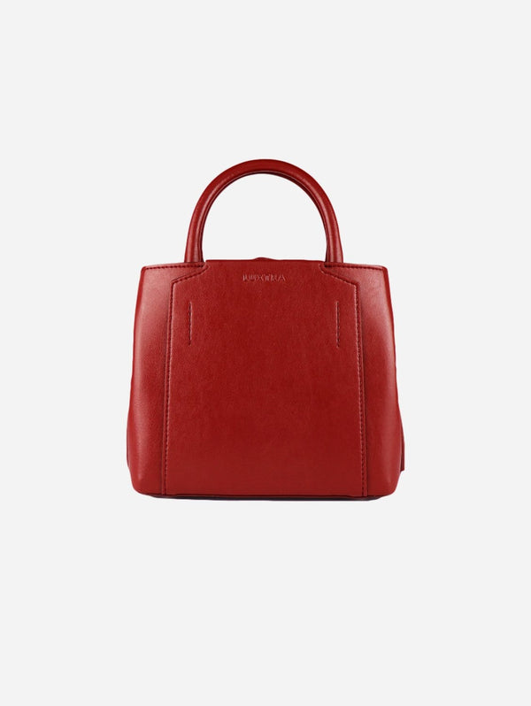 LUXTRA Nina Desserto® Cactus Vegan Leather Mini Handbag | Dark Cherry